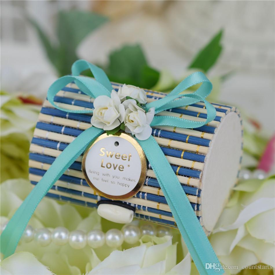 2016 Lowest Price New Bamboo Eco Friendly Wedding Candy Boxes Gift