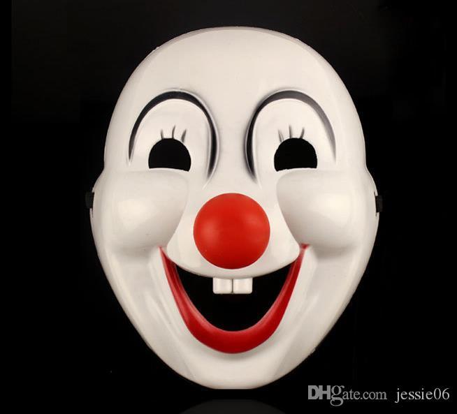 Halloween Hite Clown Rouge Nez masque Drôle De Fête De Déguisements Fêtard Jolly Masque PVC Masque Masque Masque De Carnaval blanc fournitures festives les accessoires