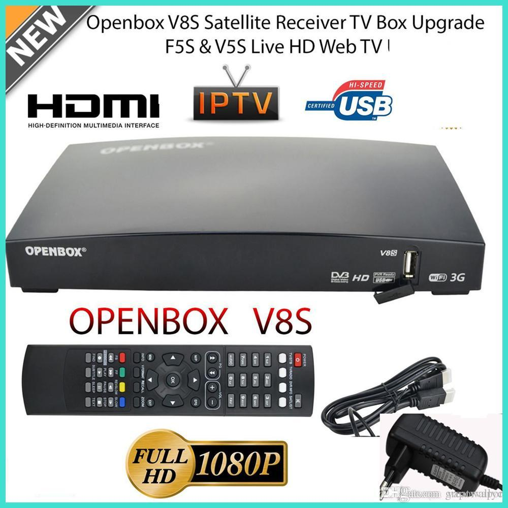 Openbox V8S Satellite Receiver S V8 SV8 Support WEBTV Biss Key 2x USB Slot  USB Wifi 3G Youtube Youporn CCCAMD NEWCAMD