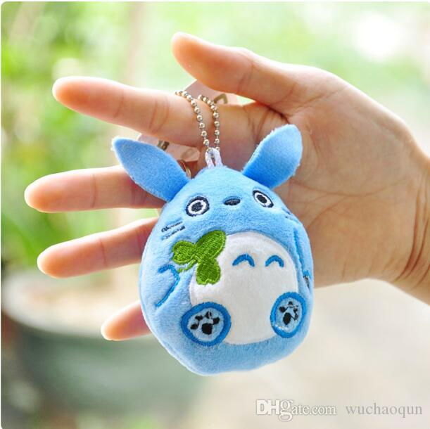 9cm Mini Cartoon Totoro Plush Pendant Staffed Soft Anime Totoro Key Chains Bag Pendant Kids Love Toys Doll Gift