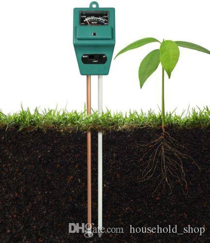 Testador de solo Medidor de Jardim Da Planta do Gramado Pot POTÊNCIA de PH UMIDADE em 1 Ferramenta de Sensor Sem Bateria Precisa TERRENO TESTADORES DHL