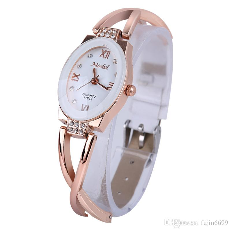 Elegant lady rose gold chain small belt table Europe and the United States wind champagne gold ladies watch