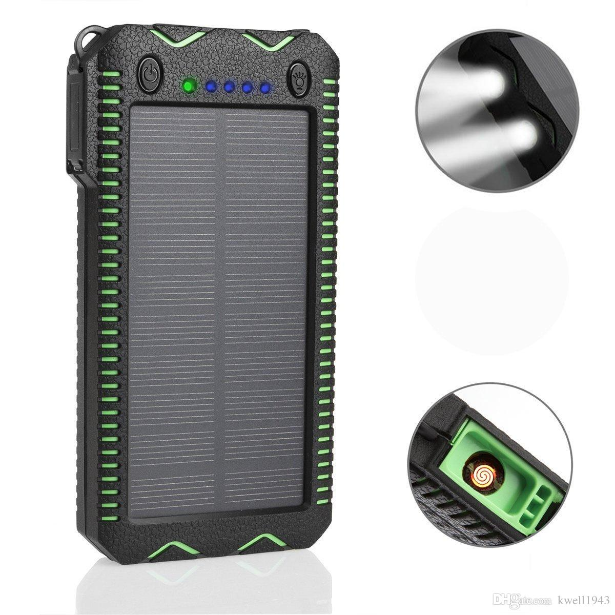 huge selection of b253a a7260 500000mAh WATERPROOF SOLAR Power Bank Charger Battery External SAMSUNG  Iphone Smart Phone