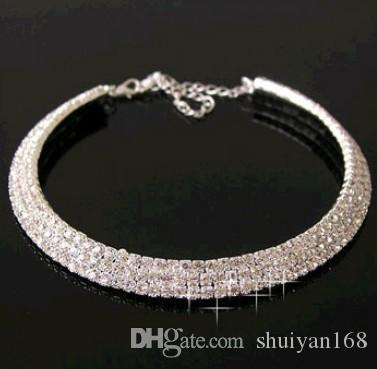 54b7b90d566ff Super gorgeous diamond necklace Wedding Party Necklace collar clavicle  Crystal Diamond Rhinestone Necklace Choker Wedding Jewelry