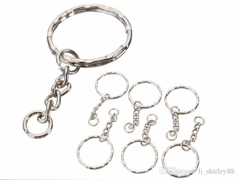 /Car key Ring Keyring Blanks 55mm Silver Tone Keychain Top Quality gift DIY whosale