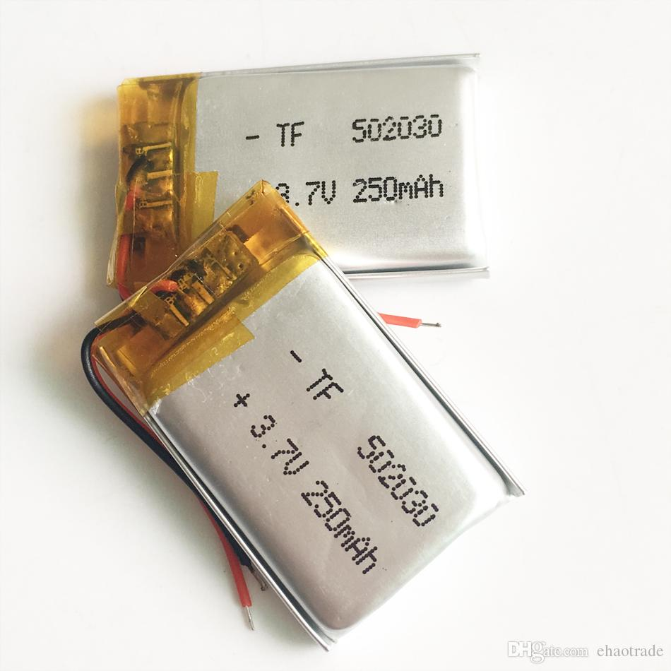 502030 3.7 в 250 мАч lipo литий-полимерный аккумулятор с защитой borad питания для мини-динамик Mp3 Bluetooth рекордер наушники гарнитура