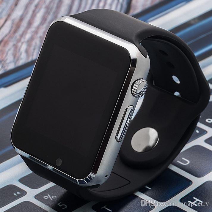 Bluetooth Correa Gratis Smartwatch Relojes De Silicona Soporte Con Inteligente Smartphone Card Inteligentes Watch Tf Sim Dhl Reloj A1 m0nw8N