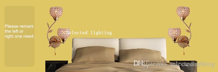Moderne K9 Kristall Wandleuchte Aluminium Lampenschirm E14 110 V 220 V Kristall Moderne Wandleuchte für Heimtextilien