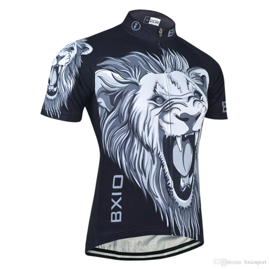 BXIO Brand Lion Pattern Cycling Shirts Customized Clothes For Professional Cycling  3 Rear Pockets Bike Jersey Ropa Ciclismo BX 030 Cycle Jerseys Bicycle ... 78e31b4a6