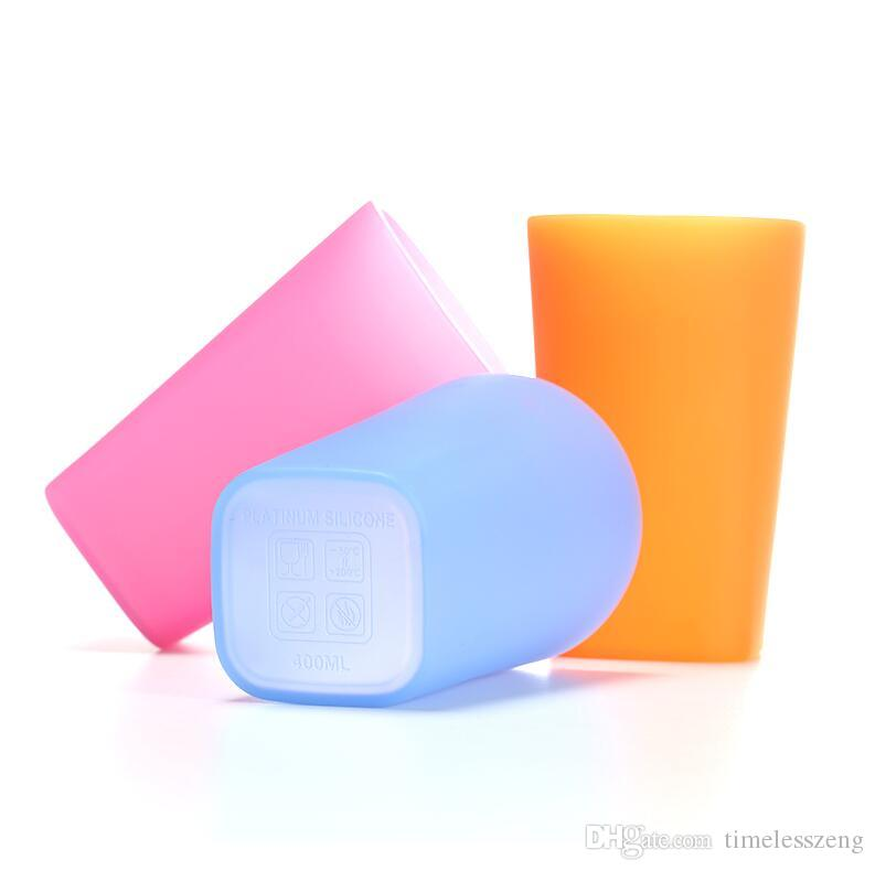 2017 New style food grade silicone wine glass wide cup environmental folding cups portable outdoor cups