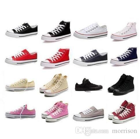 promo code 3a2c8 a2df8 Acquista Nuove Scarpe Di Tela Tutte Classiche Low Top High Top Canvas Scarpe  Casual Sneaker Scarpe Di Tela Uomo   Donna Dimensioni Eur 35 46 Spedizione  ...