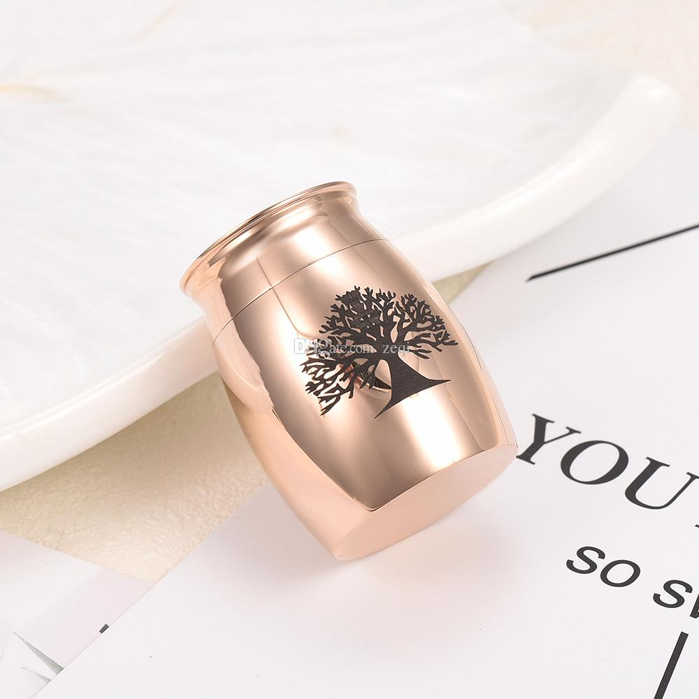 Customized Engraved Tree Of Life Stainless Steel Memorial Urn Locket Jewelry Pet/Human Ashes Ashes Holder Keepsake Cremation Jewellery