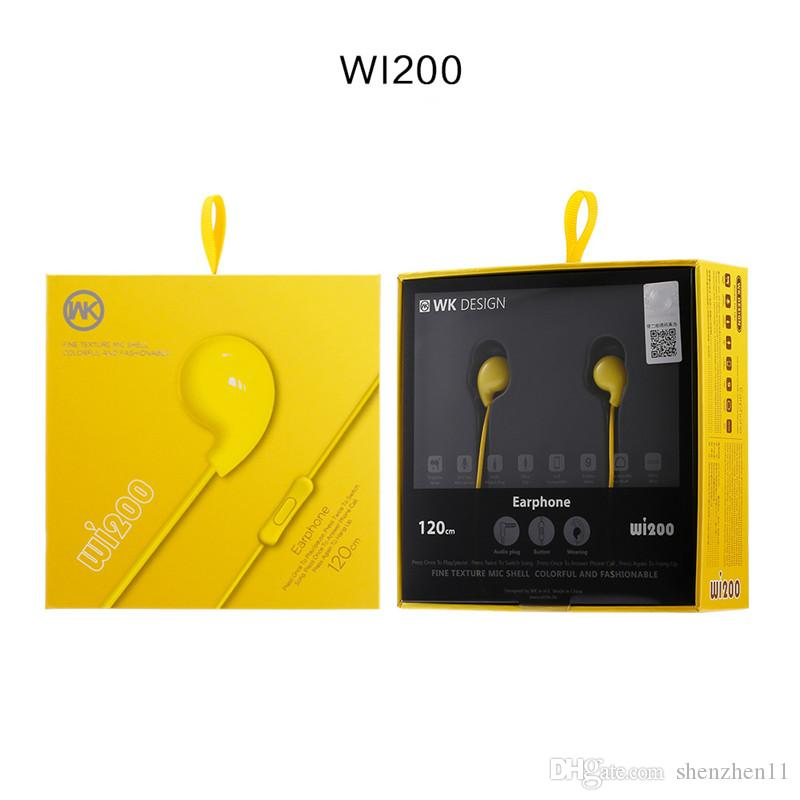 WK Design WI200 Hochleistungs-Stereo-Headset Remax Candy Farbe In-Ear-Ohrhörer Auriculares Ohrhörer mit Mikrofon EAR258