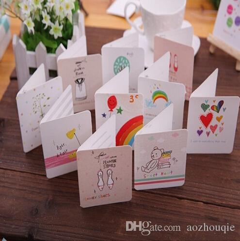 Wholesale korea diy greeting cards colorful cartoon creative wholesale korea diy greeting cards colorful cartoon creative greeting cards event party supplies business holiday greeting cards card birthday from sheiler m4hsunfo