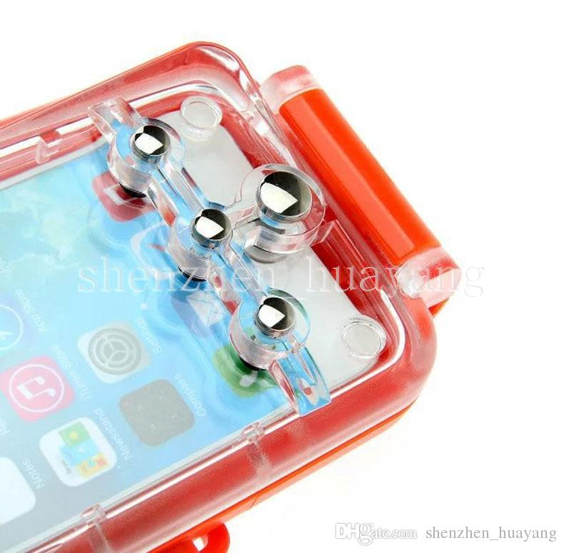 New 20m Diving water Depth Waterproof Hard Case underwater Protection Housing cover for universal smart mobile phone