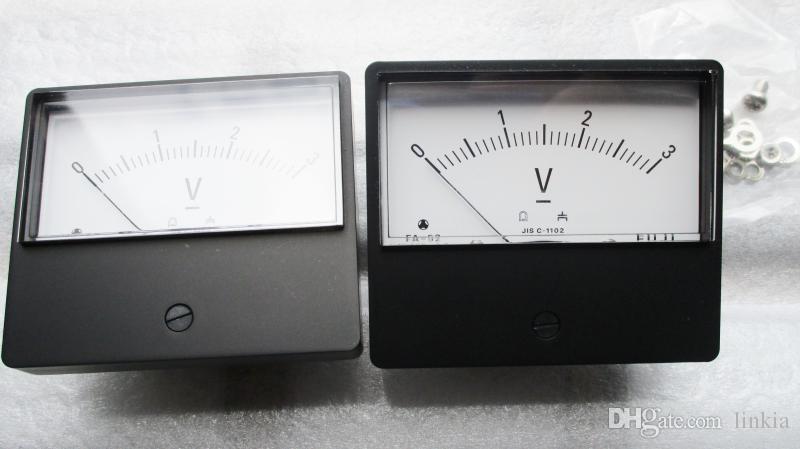 Japão FUJI analógico 3V DC voltímetro FA-52 medidor mecânico absolutamente autêntico