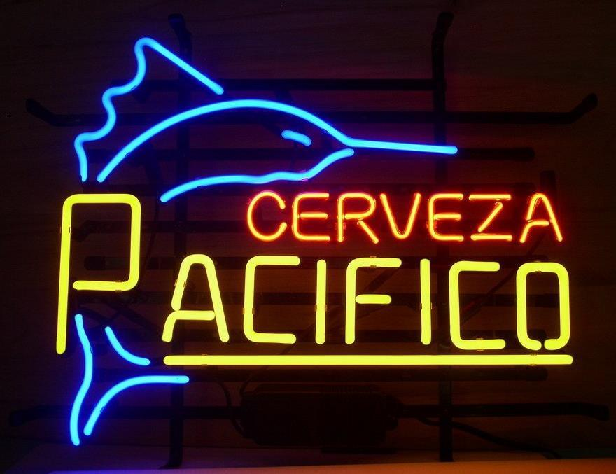 2018 new cerveza pacifico real glass neon beer signs pub bars neon 2018 new cerveza pacifico real glass neon beer signs pub bars neon light red blue 19x15 from huangxiaxing 8458 dhgate aloadofball Image collections