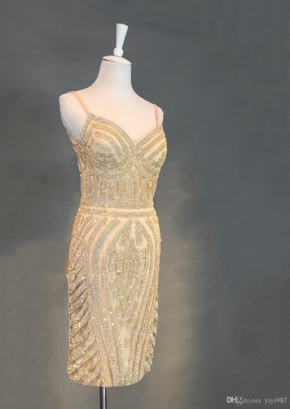 Real images Elegant Bleu Marine Sparkly Sequined Mermaid Court Soirée Dresse 2018 Couleur Or Champagne Pageant Illusion Prom Soirées Robes