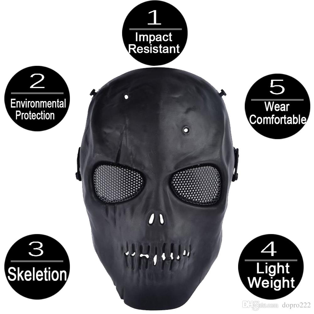 Ghost Camouflage Predator Airsoft Mesh Mask,Scary Cs Paintball ...
