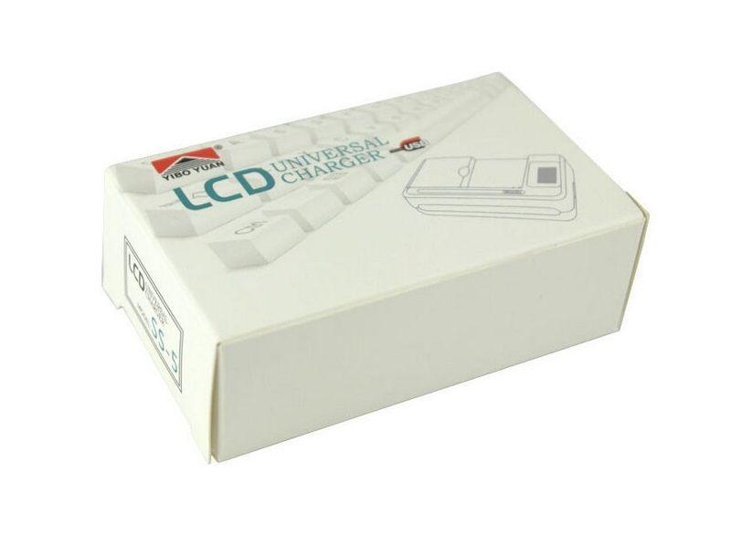 Indicatore di carica della batteria LCD intelligente universale samsvng GALAXY S4 I9500 S3 I9300 NOTA 3 S5 con carica di uscita USB US EU AU PLUG