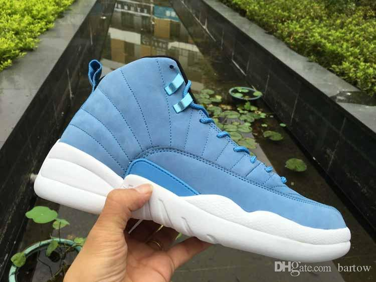 buy popular f2912 654ab Wholesale new 12 Pantone Blue White Men's Basketball Shoes for Top quality  12s Blue Sports Sneakers Size 8-13