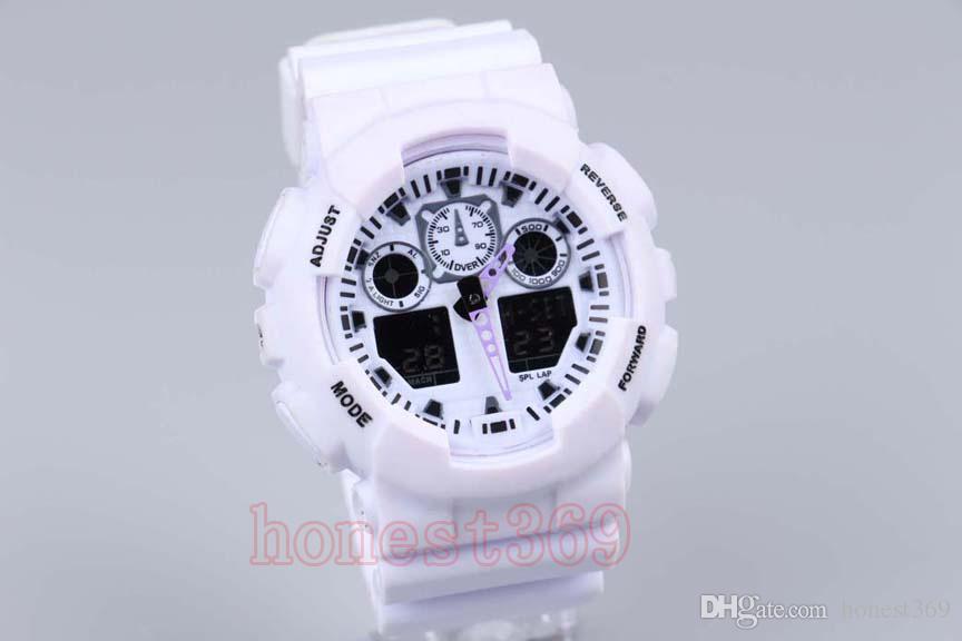 top relogio hombres relojes deportivos, cronógrafo LED reloj de pulsera, reloj militar, reloj digital, buen regalo para los hombres chico, dropship