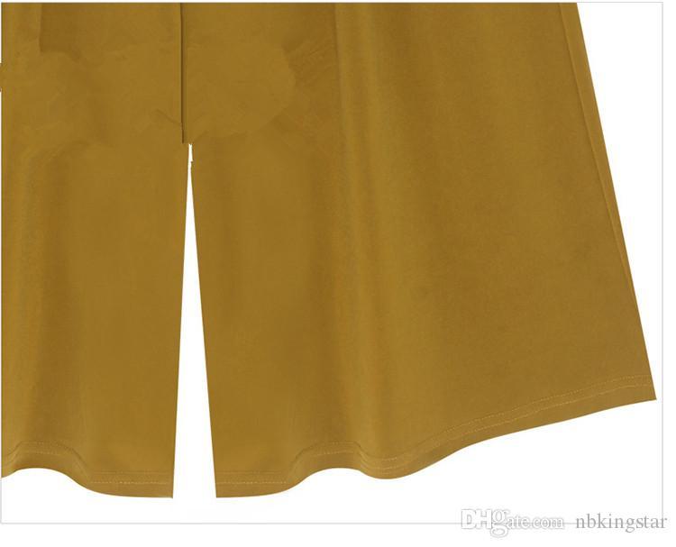 Nouveau Femmes Large Jambe Pantalon En Métal Décoré Lâche Casual Pantyhose Sarouel Pantalons 3 Couleurs M-6XL Livraison Gratuite