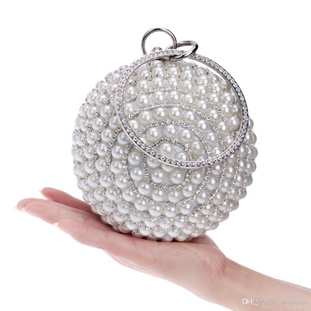 Luxury Womens Spheric Crystal Clutch Bags Evening Handbags Wallet