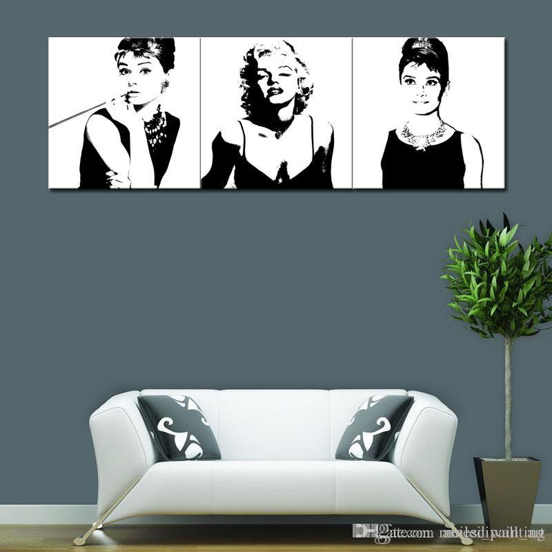 Best Marilyn Monroe And Audrey Hepburn Painting Picture Print On ...