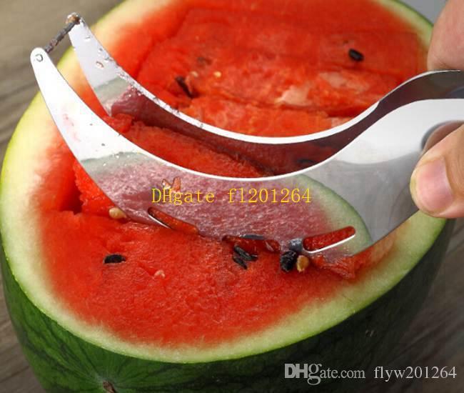 / En Gros En Acier Inoxydable Pastèque Cutter Melon Trancheur Corer Serveur Splitter Couteau À Fruits Cuisine Outil