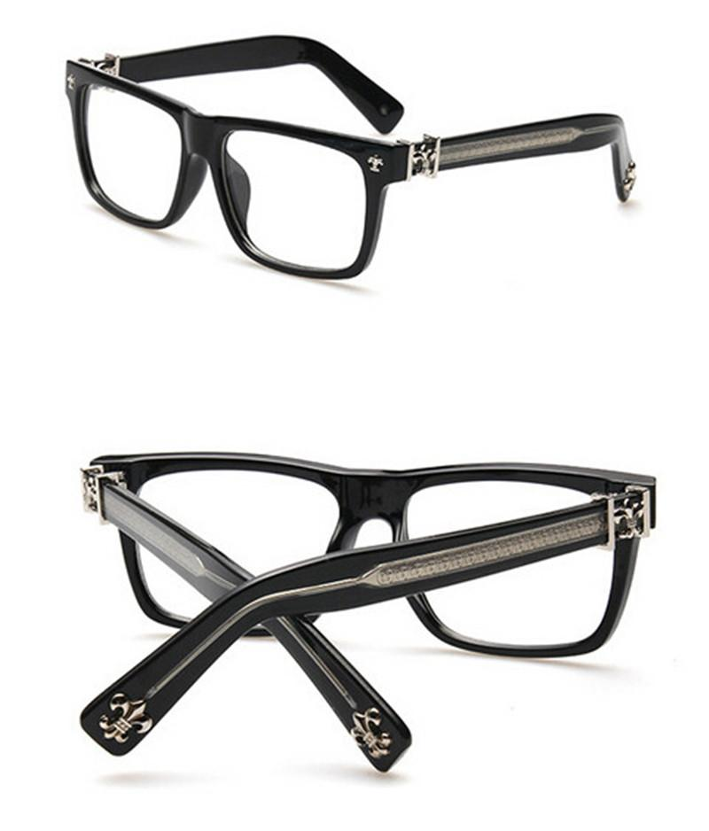 Black Brand Metal Square Prescription Glasses Vintage Elegant Women ...