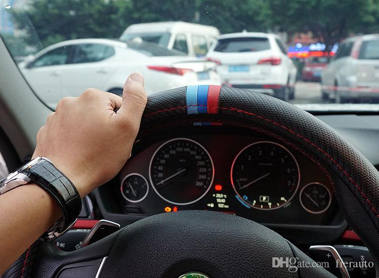 38 CM Car Styling Copertura del Volante Interno Decor Copertura In Fibra di Carbonio Sport BMW X1 X3 X5 E6 E36 E36 E36 E60 E90 E92