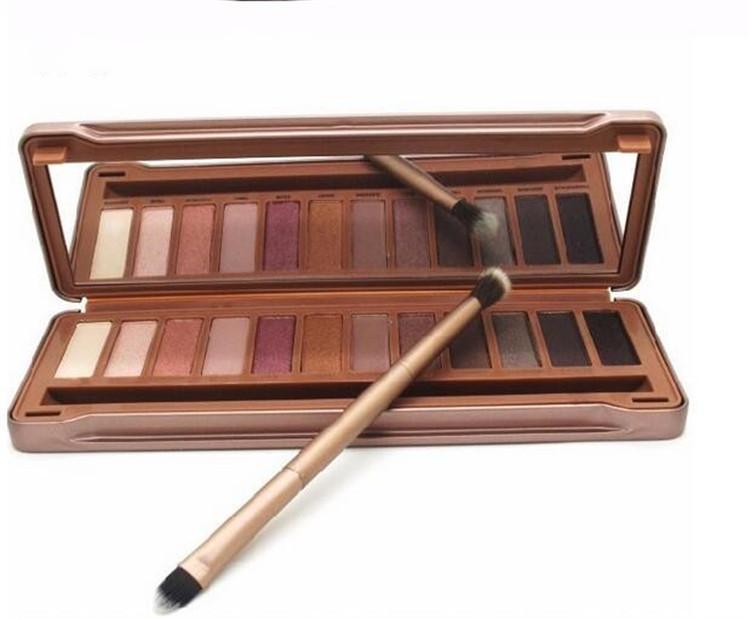 Maquillage enfumé direct Factory NO: 1 2 3 Palette 12 fards à paupières Cosmétiques avec pinceau Imperméable DHL