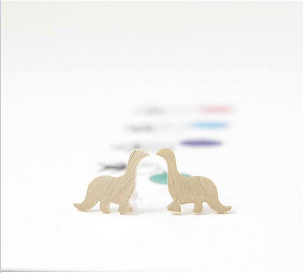 Fashion dinosaur stud earrings 18K Gold Plated/silver plated/rose gold plated stud earrings wholesale