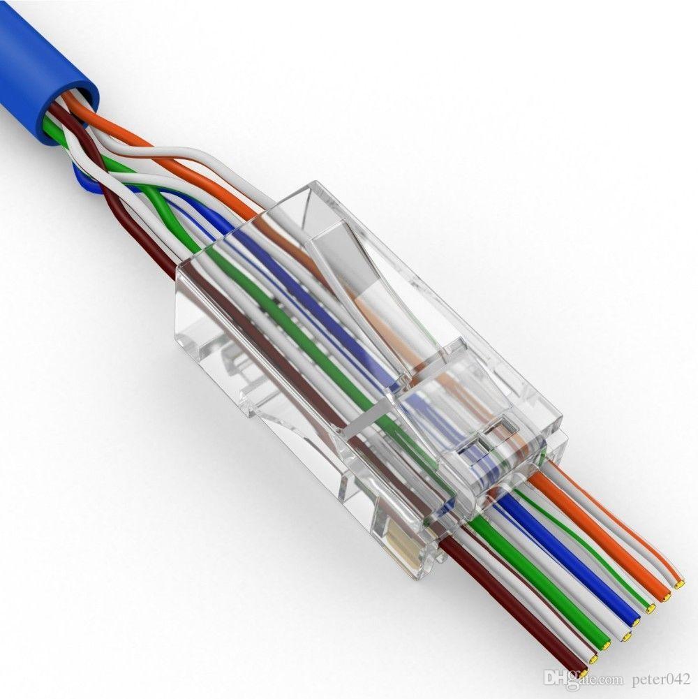 Cat5 Cat5e Ağ Bağlantısı 8P8C rj45 Metal Kablo Modüler Fiş Terminalleri