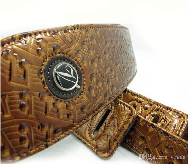 vendite calde cinghia di chitarra marrone di alta qualità basso di chitarra acustica parti di chitarra elettrica strumenti musicali accessori