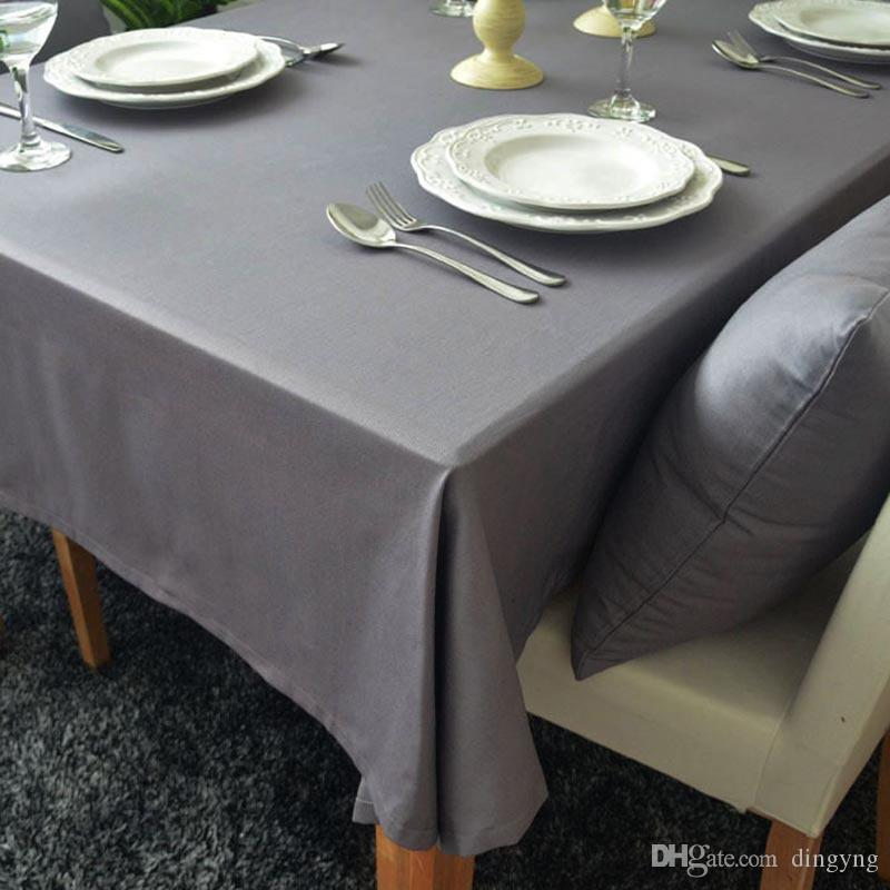 Cotton Linen Solid Color Table Cloth Pastoral Multi Dust Tablecloths 60x60  140x250cm Manteles Tablecloths Rectangular Tablecloth Table Cover Polyester  ...