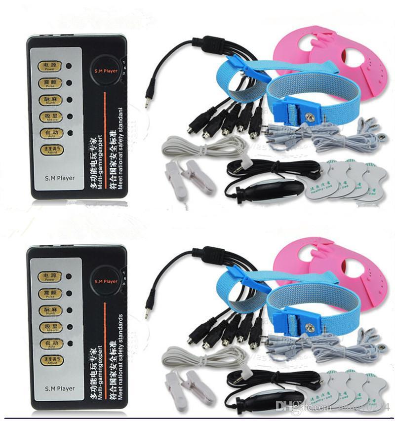 11in1 Stromschlag Nippelklemmen Nippel Pad Vagina Plug Anal Plug Penis Ring Medizinische Themen Spielzeug Home Medical Therapy Ausrüstung für Paare