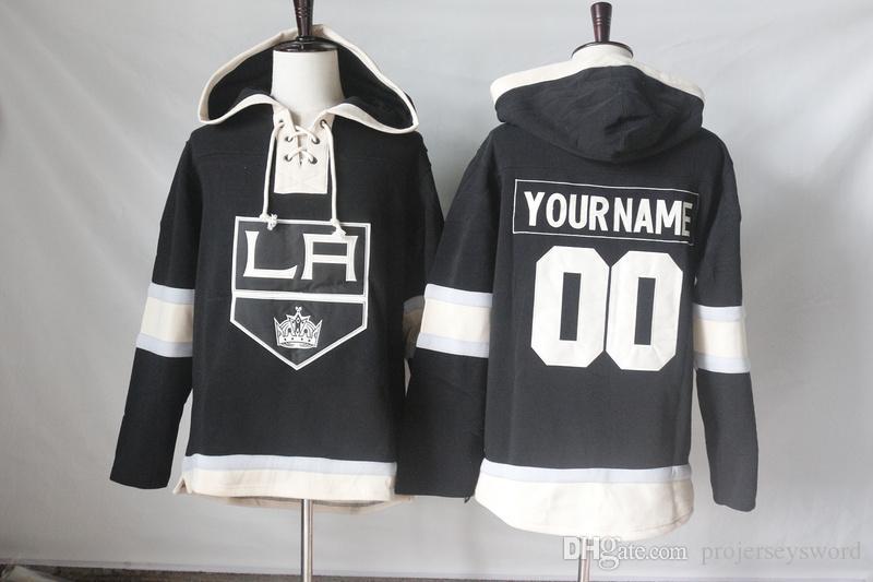 Los Angeles Kings Jerseys Blank 77 Jeff Carter 73 Tyler Toffoli 99 Wayne Gretzky Hoodies Sweatshirts Any Name and Any Number