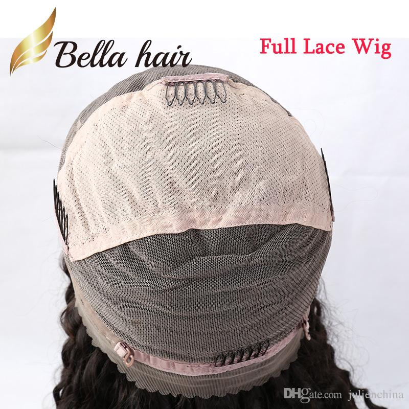 Peruvian Hair Wigs remy Human Hair Full Lace Wigs Natural Color Gluless Lace Curly Wigs for Black Women 150%Density Bella Hair