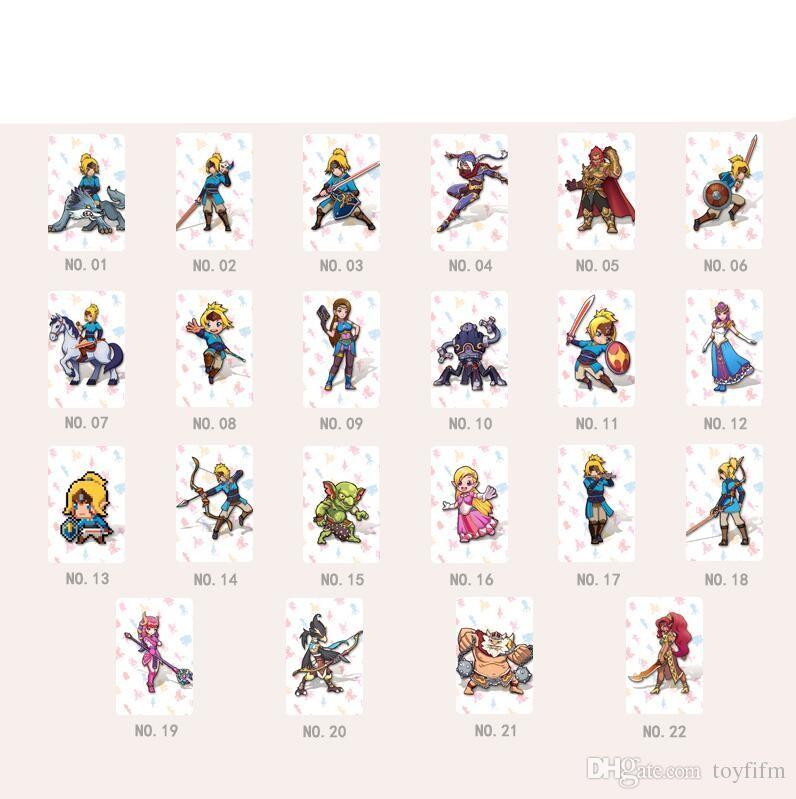 Games Toys 22 pcs / Set Card NFC tag card Breath Wild 20 heart wolf link Fierce deity figures gifts