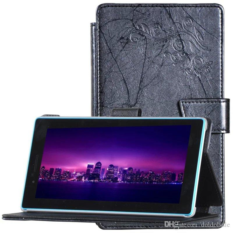 Luxury Print Flower PU Leather Case Cover for Lenovo Tab 3 730F 730M 730X TB3-730F TB3-730M Tablet 7 inch Screen Protector Film