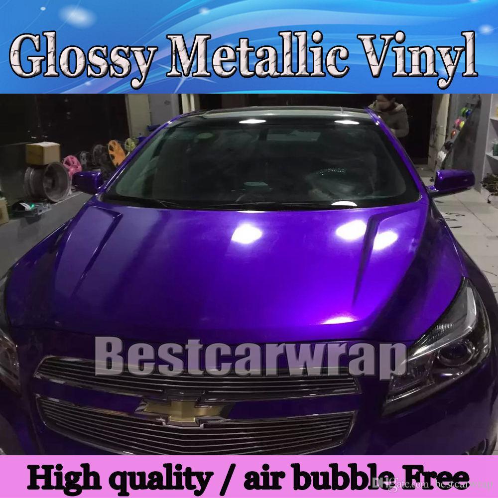 Car Vinyl Wrap Cost >> 2017 Midnight Purple Glossy Metallic Vinyl Wrap Car Wrap ...