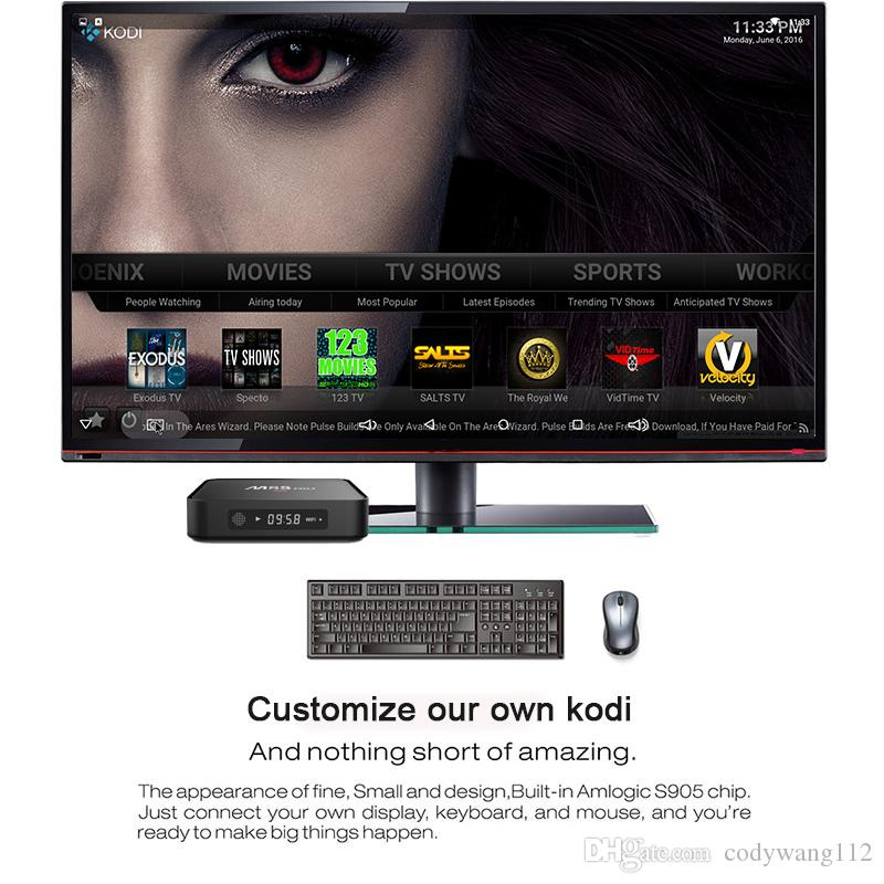 Amlogic S905X MXQ PLUS M8S PRO Android TV Box With LED Display Android 6.0 1GB 8GB Google Play Internet