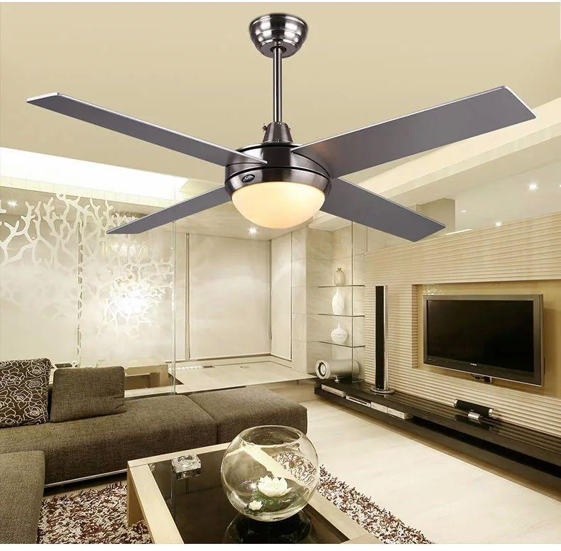 2019 52inch Ceiling Fan Lights Light Simple Led Modern Minimalist Living Room Bedroom Fans Remote Control From Luohuisi