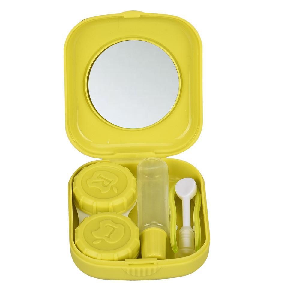 Nuova custodia in plastica mini lenti a contatto portatili Contenitore lenti a contatto viaggi all'aperto con specchio Facile da trasportare la cura degli occhi