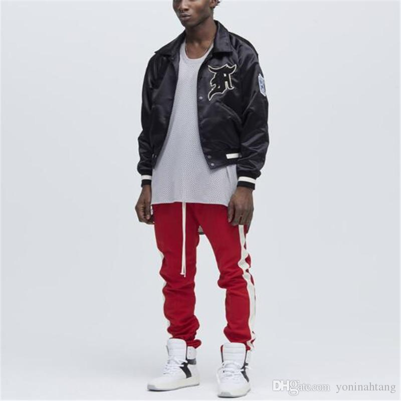 07ae3dff800 Wholesale Men Fashion Vintage Ankle Zipper Joggers Justin Bieber Sweatpants  Women Couple Casual Slim Pants Trousers Sweatpants Casual Pant Men Joggers  ...