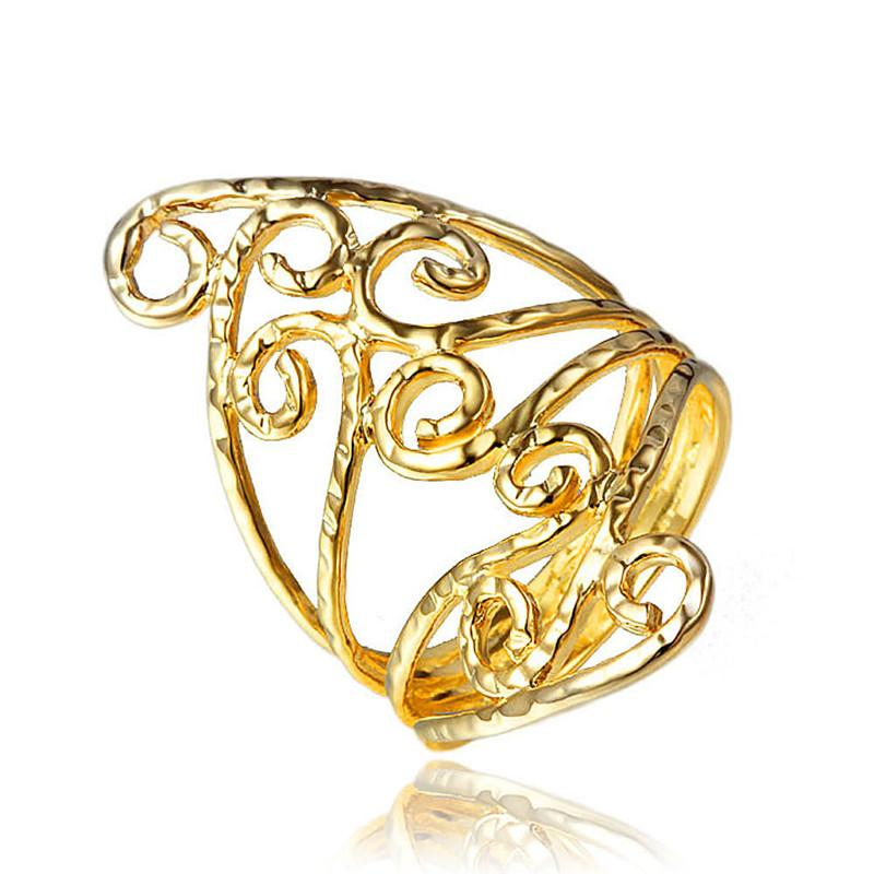 High Quality Real Gold Plating Part Dress Vintage Ring For Women ...