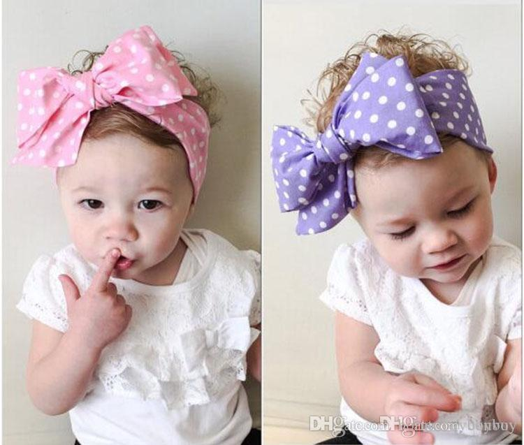Fashion Vintage Baby Girls Polka Dot Headbands Kids Floral Striped Bow  Bunny Hairbands For Kids Children Infant Lovely Hair Oranment KHA378 Hair  Accessories ... 30a6b1f5d3e