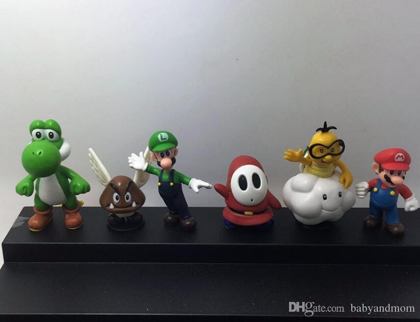2016 New Genuine Super Mario Bros yoshi Figure dinosaurand roid watchtoys Figure play SuperMario toys doll 18 styles